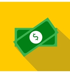Two packs of money icon flat style vector