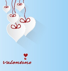 valentine love hearts on blue background vector image