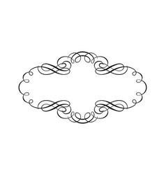 vintage design element frame wedding card vector image