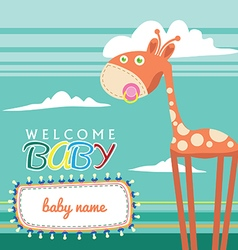 welcome baborn greeting card cute vector image