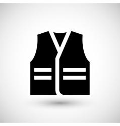 Working vest icon vector