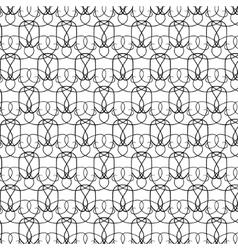 Elegant thin black and white pattern vector image