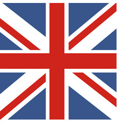 flag of great britain official uk flag of the vector image
