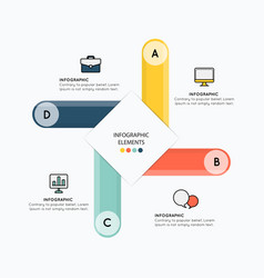 infographic elements with design on white vector image vector image