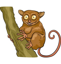tarsier animal cartoon vector image vector image