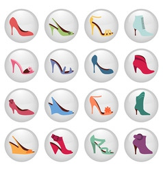 woman shoes icon vector image vector image