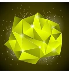 Abstract Polygonal Yellow Banner vector image vector image