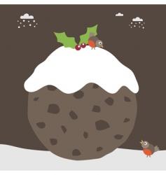 Christmas pudding vector image vector image