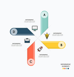 Infographic and icons for business on white vector