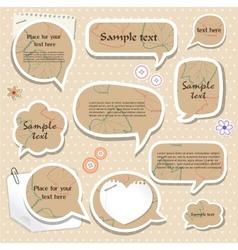 Speech bubbles scrapbook elements vector