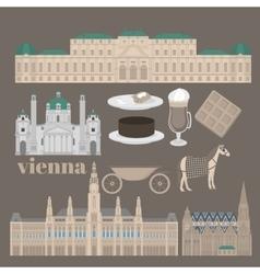 Austrian City sights in Vienna Austria Landmark vector image vector image