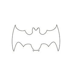 Bat path vector image