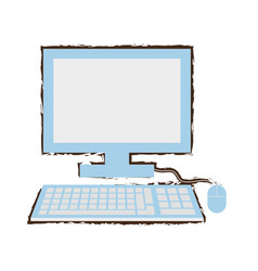 computer school learn sketch vector image vector image