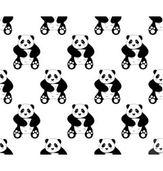 cute panda on white background vector image