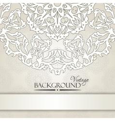 Vintage beige elegant invitation card vector image