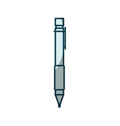 blue shading silhouette of pen icon vector image vector image