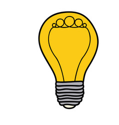 color background of light bulb with filament vector image
