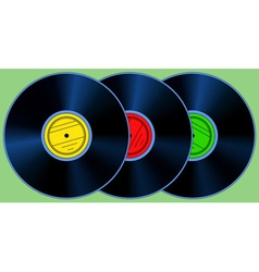 Gramophone records set vector image vector image