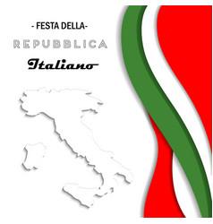 italian national rebuplic day vector image