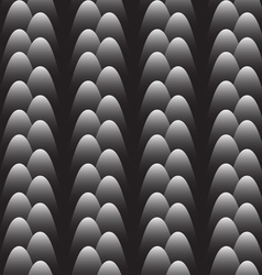 Monochrome seamless pattern with stylized eggs vector image vector image
