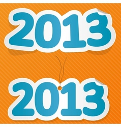New year label vector image vector image