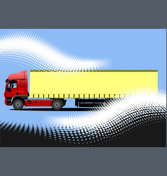 3d truck lorry vector image