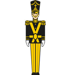A nutcracker toy soldier vector