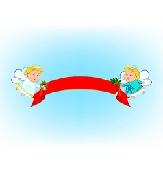 Angel Banner vector image