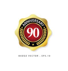 Anniversary 90 template design vector