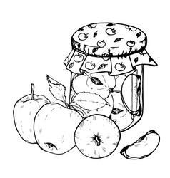 apple jam vector image