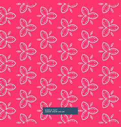 beautiful pink flower pattern background vector image