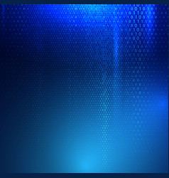 Binary code techno background vector
