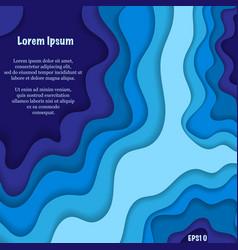 blue paper waves background vector image