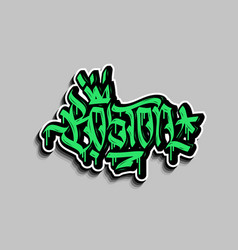 Boston massachusetts usa hand lettering graffiti vector