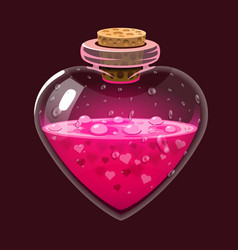 Bottle with love potion icon magic elixir design vector