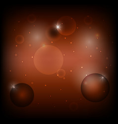 bubble circle on dark brown abstract background vector image vector image