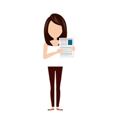 businesswoman with curriculum vitae vector image