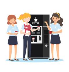 businesswomen coffee break vector image
