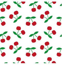 cherry seamless texture vector image
