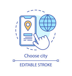 Choose city concept icon vector
