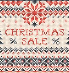 Christmas sale Scandinavian or russian style vector image