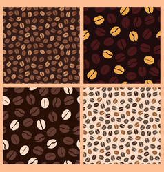 Coffee pattern beans vector