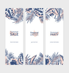 Collection of vertical flyer or banner templates vector