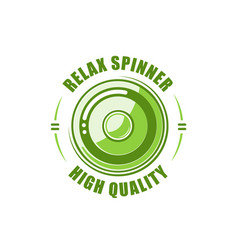 color spinner label vector image