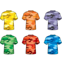 Colored camouflage shirts vector