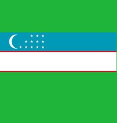 Colored flag of the uzbekistan vector