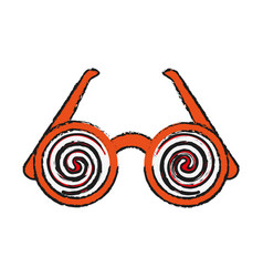 Crazy glasses funny toy icon image vector