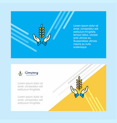 crops in hands abstract corporate business banner vector image