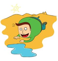 Dehydration vector image