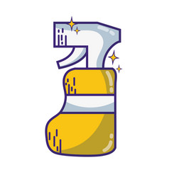 detergent liquid plastic bottle spray to clean vector image